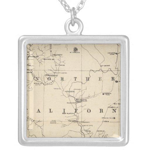 Northern California Square Pendant Necklace