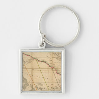 Northern Canada Silver-Colored Square Keychain
