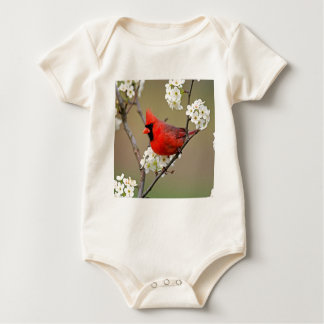 Northern Cardinal Baby Bodysuit