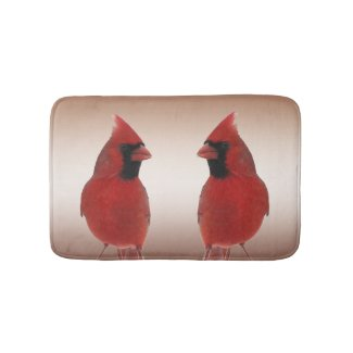 Northern Cardinal Bird Bath Mats