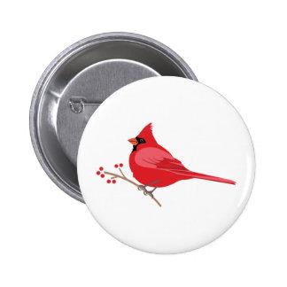 Northern Cardinal Button