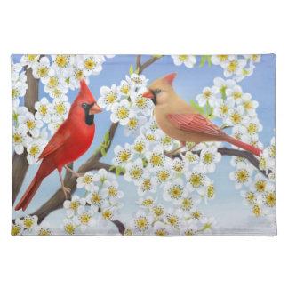 Northern Cardinal Couple Placemat