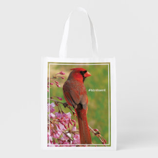 Northern Cardinal Grocery Bag