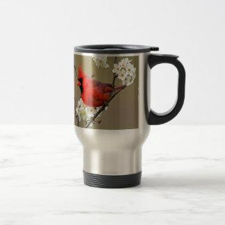 Northern Cardinal 15 Oz Stainless Steel Travel Mug