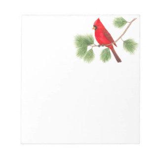 Northern Cardinal Notepad
