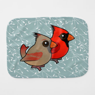 Northern Cardinal Pair Burp Cloth