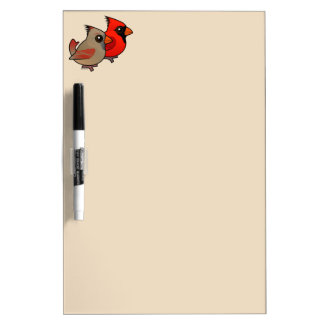 Northern Cardinal Pair Dry-Erase Board