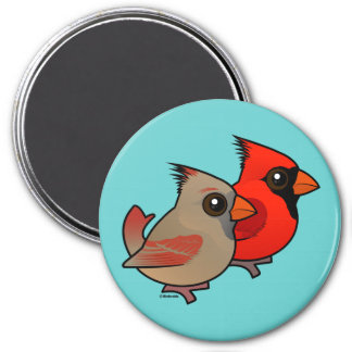 Northern Cardinal Pair Magnet