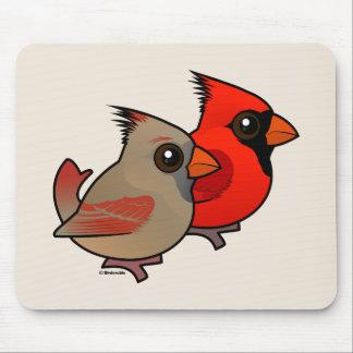 Northern Cardinal Pair Mouse Pad