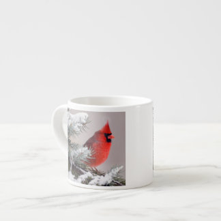 Northern Cardinal Perched In A Tree Espresso Cup