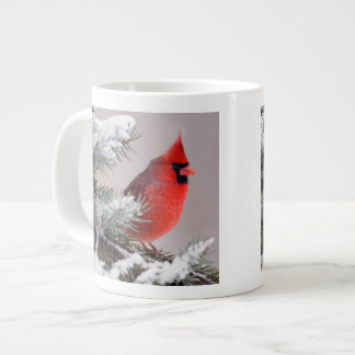 Northern Cardinal Perched In A Tree Large Coffee Mug