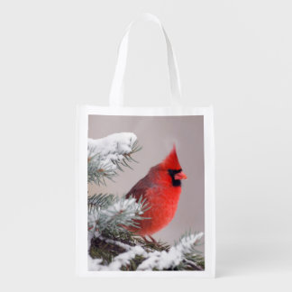 Northern Cardinal Perched In A Tree Market Totes