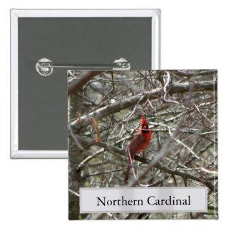 Northern Cardinal Pinback Button