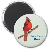 Northern Cardinal Red Bird Magnet