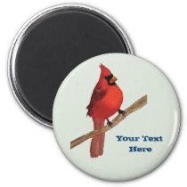 Northern Cardinal Red Bird Magnet