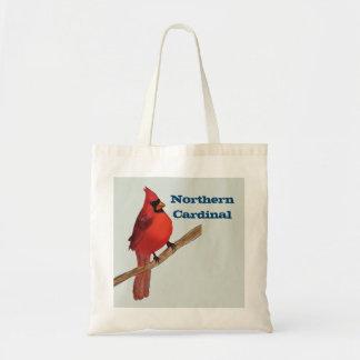 Northern Cardinal Red Bird Tote Bag