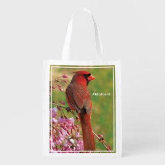 Northern Cardinal Reusable Grocery Bag