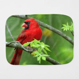 Northern cardinals burp cloth