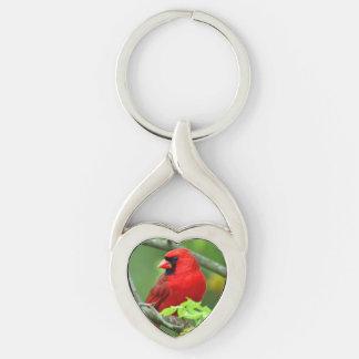 Northern cardinals keychain