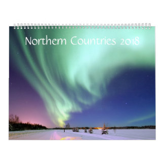 Northern Countries 2018 - 12 Months Calendar