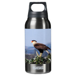 Northern Crested Caracara Bird of Prey on tree Thermos Bottle