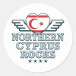 Northern Cyprus Rocks v2 Classic Round Sticker