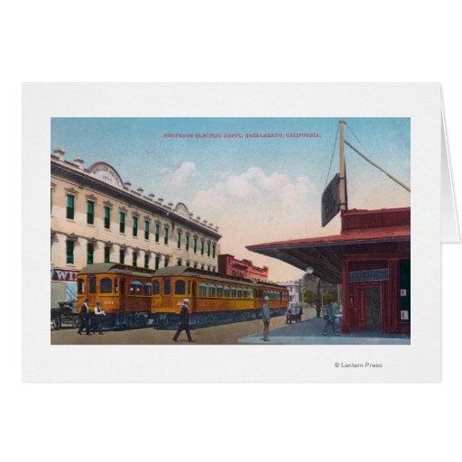 Northern Electric Rail Depot Card