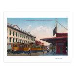 Northern Electric Rail Depot Postcard