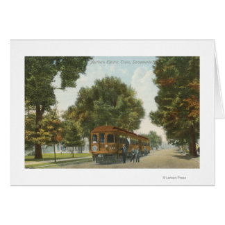 Northern Electric Railroad Station 2 Greeting Card