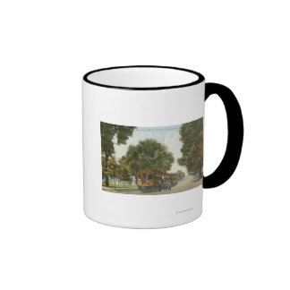 Northern Electric Railroad Station 2 Ringer Coffee Mug