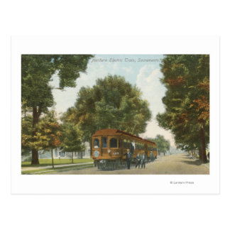 Northern Electric Railroad Station 2 Postcard