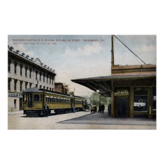 Northern Electric Railroad Station 2 Print