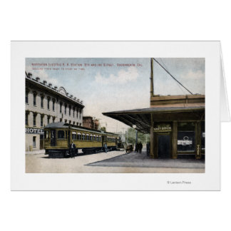 Northern Electric Railroad Station Greeting Card