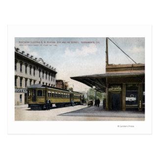 Northern Electric Railroad Station Postcard