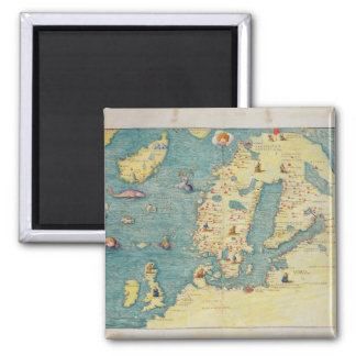 Northern Europe 2 Inch Square Magnet