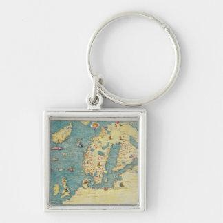 Northern Europe Keychain