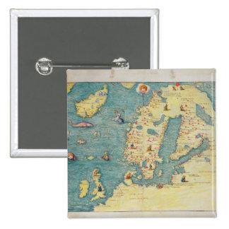 Northern Europe Pinback Button