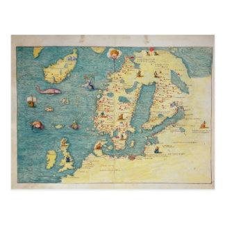 Northern Europe Postcard