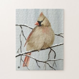 Northern Female Cardinal Puzzles