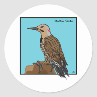 NORTHERN FLICKER CLASSIC ROUND STICKER