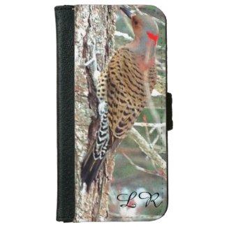 Northern flicker monogram iPhone wallet case iPhone 6 Wallet Case