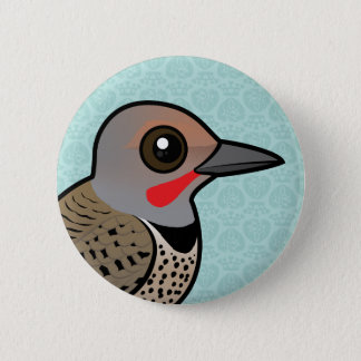 Northern Flicker (red-shafted) Button