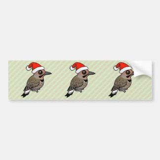 Northern Flicker Santa Claus (yellow shafted) Bumper Sticker