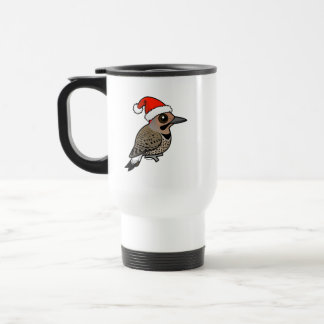 Northern Flicker Santa Claus (yellow shafted) Travel Mug