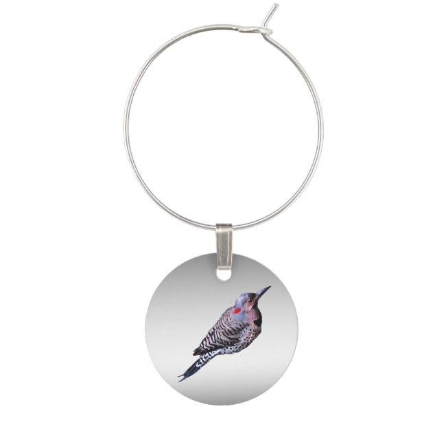 Northern Flicker Woodpecker Bird Wine Charm