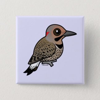 Northern Flicker (yellow-shafted) Button