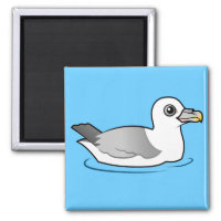 Northern Fulmar (light morph) Square Magnet