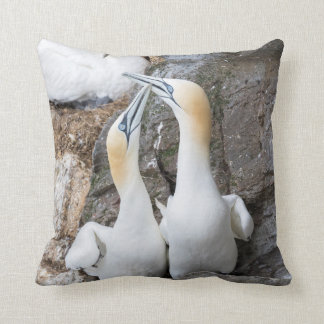 Northern Gannet Pair Greeting Throw Pillow