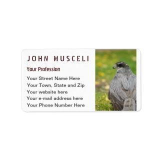 Northern Goshawk customizable business suite Label