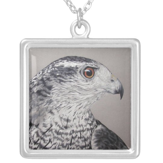 Northern Goshawk Silver Plated Necklace